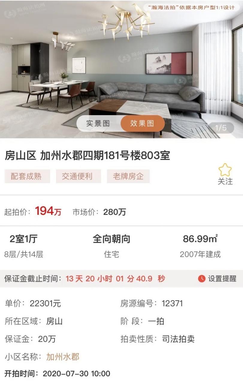 在北京,哪里的法拍房最值得买?